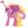 3d personalizado de pvc material de mi pequeño pony de juguete suave