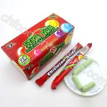Goma de mascar stick con polvo sour/gomademascar burbuja de caramelo