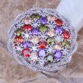 gemstone moda anel de dedo de prata anéis china jóia por atacado