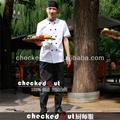 Uniforme del cocinero +designer escudo chef chef coats~executive abrigo& retardante de llama de chef escudo