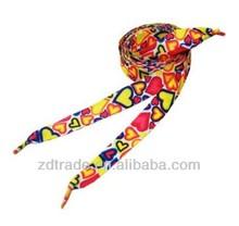 venta caliente cordones de los zapatos con el patrón de varios y colores sólidos