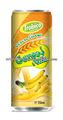 amarillo en lata de leche de cereales