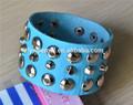pulseira de couro trançado pulseira de couro de moda