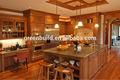 cereza de madera maciza gabinete de cocina de diseños