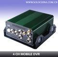 Disco rígido e cartão sd do gravador de vídeo dvr com detecção de movimento, 3g controleremoto para assistir ao vídeo online