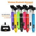 El alargamiento de mano de auto- fotografiado gopro monopod unidos ga-54 uno para el iphone selfie palo con mando a distancia