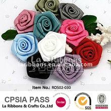 colorido de la boda de cinta de raso flores