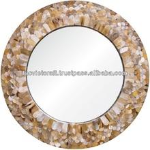 de alta calidad mejor venta decorativa de la fregona ronda gris espejo de la pared