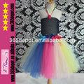 color del arco iris tutu vestido de las niñas vestidos ocasión especial con arcos de colores