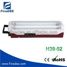 H39-02 8w*2 mango recargable lámpara fluorescente