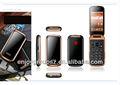 Wcdma 3g sênior smart telefone flip com dual sim dual standby android desfrutar w58 mais recente flip celular com wi-fi