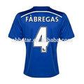 Nueva llegada 14-15 calidad tailandés chelsea casa azul fabregas camiseta de fútbol( js- 1254)