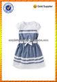 bebé niña de algodón de manga de oxford dril de algodón fino de cambio de hadas vestido para el desgaste del verano