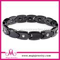 Venta caliente de alta calidad de cerámica negro accesorio brazalete de diamantes para los hombres