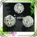 20mm venta al por mayor de moda de color de múltiples bola de diamante de imitación cuentas