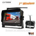 7 pulgadas el monitor 2.4 ghz inalámbrico cámara de copia de seguridad para remolque de camión