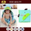 Alta calidad al por mayor adorable animal bebé toalla con capucha