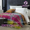 100% de algodón de doble hoja de cama