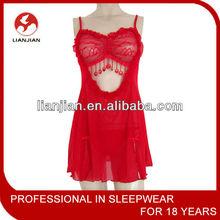 Rojo sexy lencería femenina encantadora + tanga