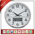 analogiques horloge murale lcd avec date numérique horloge murale décorative en fer forgé