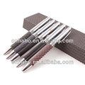 de moda bolígrafo de metal con cuero envuelto en la promoción