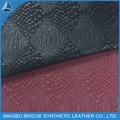 Cuero de serpiente de material flocado piel para hacer zapato