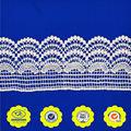 alencon decorativos de la ropa de poliéster bordado de blanco