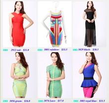 2014 letest mujeres hermosas corto vestido de fiesta al por menor y vestido al por mayor