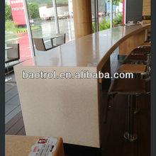 Jerusalén blanco compuesto artificial superficie sólida para gabinete de cocina encimera& las tapas de escritorio