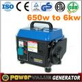 generador de generación 750w gasolin generador 220v 50hz de generación de energía del dínamo de dos ruedas