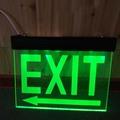 proyecto led de señal de salida de emergencia iluminación de símbolos