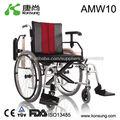 Silla de ruedas manual plegable para discapacitados