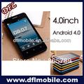 4.0 polegadas android4.0 mtk6517 china dual sim barato telemóvel inteligente d818