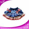 los niños mini faldas de mezclilla con bowknot proveedor de china