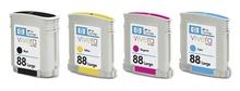 Usado cartuchos jato de tinta para impressora hp magenta 88/88xl/yello/ciano/preto