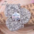 fantástico de compromiso de diamantes anillos de oro italiano para la boda