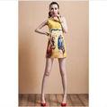 2014 nueva dama de la moda buen momento vestido womenwith beauitful imágenes impresas