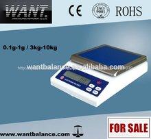 Aprobado por la ce fácil de la máquina de pesaje escala( 5000g/0.1g)