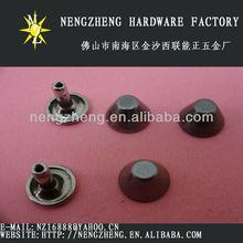 ronda decorativos cubo negro tacos del remache para los zapatos