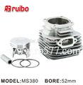 Para stihl ms380 52mm nikasil motosierra/sierra cadena de cerámica cilindro de herramienta de jardín de piezas de repuesto