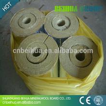 de alta densidad de lana de roca para el aislamiento de tuberías de vapor