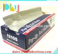 Venta al por menor 8011 rollos lámina de aluminio pop-up hojas de papel
