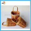 Mini pared de madera pared de la canasta canasta de regalo cesta decorativa