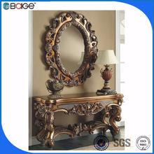 S-8001b de buena calidad en dificultades antiguos de madera consola de mesa