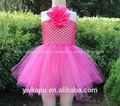 hermosa handmad tutu vestido de niña de cumpleaños tutu vestido de conjunto para los niños
