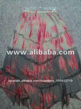 Algodón tie dye& larga falda para las niñas