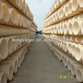 white PVC Double wall corrugated drain pipe for waste