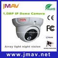 seguridad a prueba de agua cámara web de vandalismo ir domo de la cámara con detección de movimiento