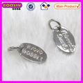 Tiny oval personalizada etiquetas de metal grabado el logotipo de la marca para etiquetas joyería #13775