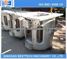 150KG horno de fusión por inducción para Hierro, Aluminio, Acero (tipo rotativo basculante)